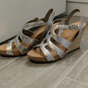 Aerosoles silverstrap wedge sandals